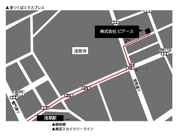 株式会社ピアース地図